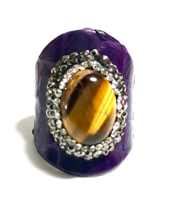 Purple Ostritch Ring