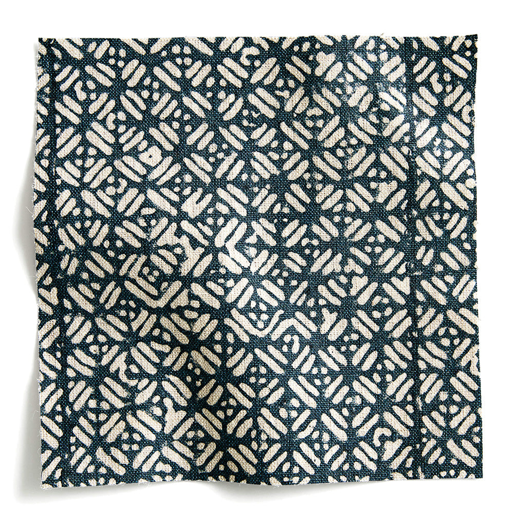 Batik Pacific Blue linen USA