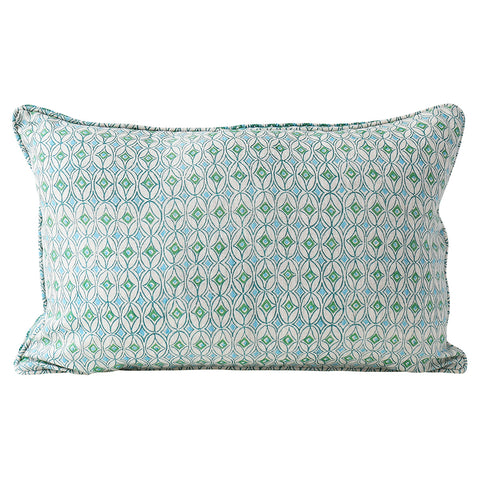 Condesa Emerald linen cushion 35x55cm