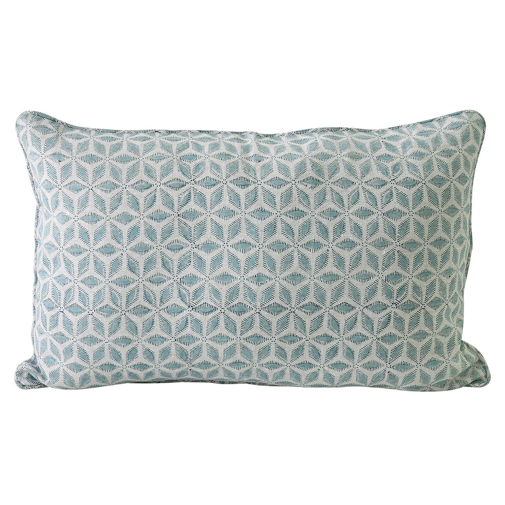 Hanami Light Blue linen cushion 35x55cm