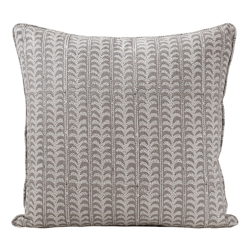 Luxor Mud linen cushion 50x50cm
