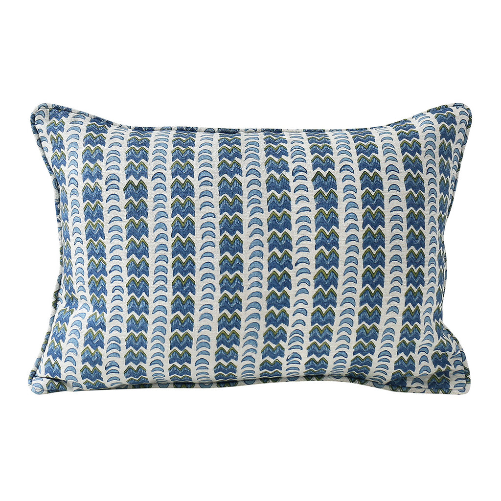 Rambagh Moss linen cushion 30x45cm