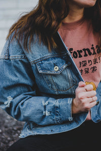 Distressed Denim Jacket