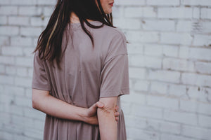 Taupe Smock Dress