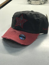 TrapStar Distressed Stonewashed Black/Red Dad Hat