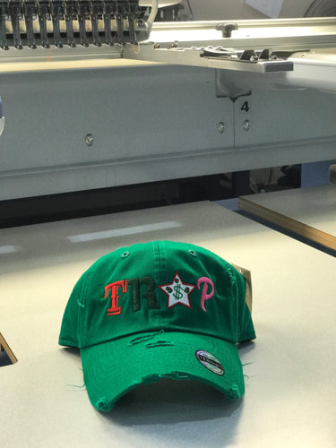 TrapFly Distressed Dad Hat Watermelon