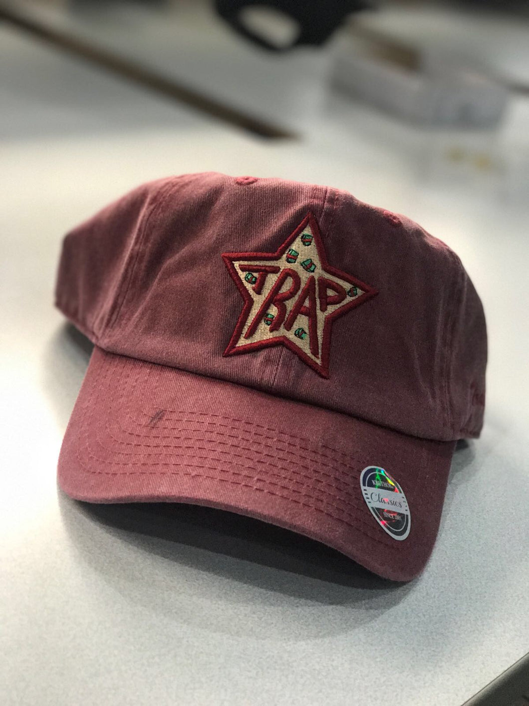 Burgundy Dad Hat