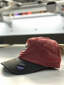 WristWork Distressed Hat: Red/Black