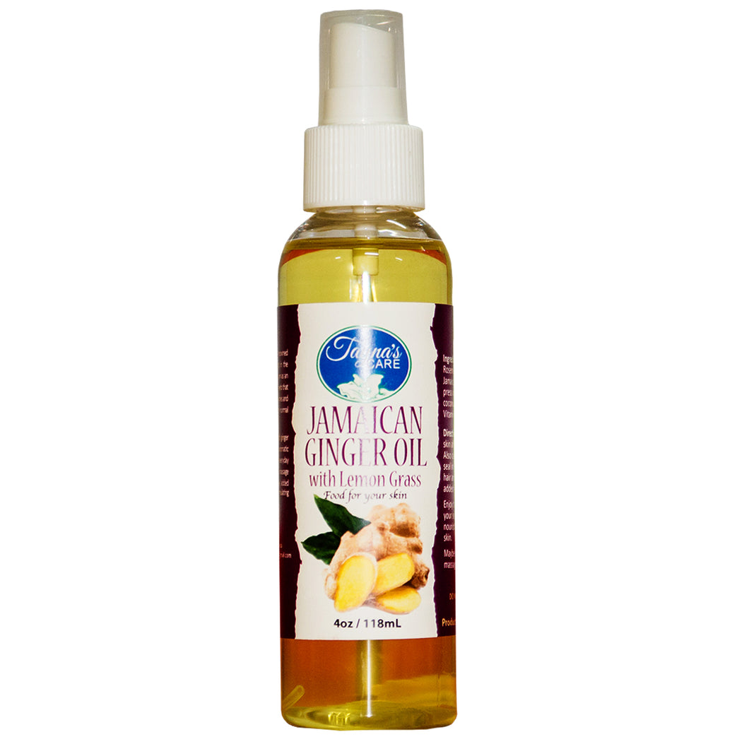Ginger with Lemongrass Jamaican All Natural Body & Massage Oil