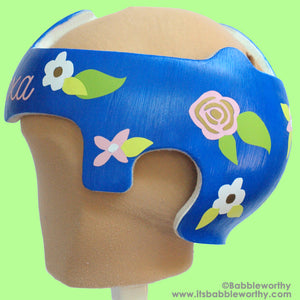 babbleworthy decals, baby helmet bows, floral baby helmet, flowers cranial band, doc band stickers, baby helmet stickers, diy docband
