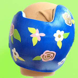 "Floral and Mettalic ""Alexa"" Baby Girl Cranial Band Decals"