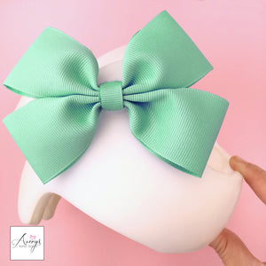 *LIMITED STOCK* Mint Baby Girl Cranial Band Helmet Bow for Starband Doc Band