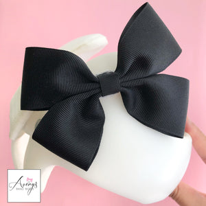 Baby Girl Cranial Band Bow for Plagio Cranio Helmet, Black