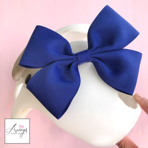 Baby Girl Cranial Band Bow for Plagio Cranio Helmet, Blue