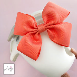 Baby Girl Cranial Band Bow for Plagio Cranio Helmet, Dark Coral