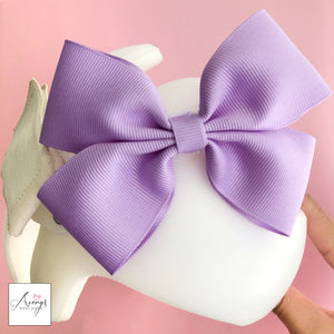 *LIMITED STOCK* Baby Girl Cranial Band Bow for Plagio Cranio Helmet, Light Purple