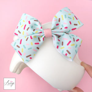 summer baby helmet, spring baby helmet, spring docband, summer docband, cranial helmet bow decoration, la jolla cranial band decoration, houston cranial band decorations, custom cranial band designs and accessories, babbleworthy, avery's band bows
