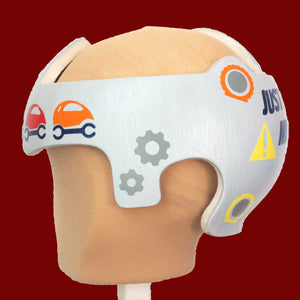 Just Fixing My Flat Tire Baby Boy Cranial Band Decal Decoration
