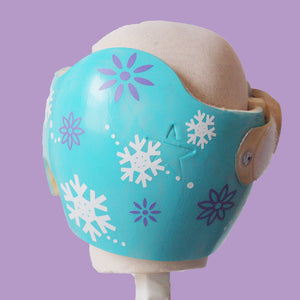Snowflake Winter Baby Girl Helmet Cranial Band Decals