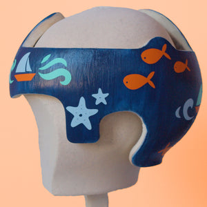 Nautical Underwater Ocean Cranial Band Stickers with Monogram