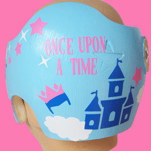Crown Princess Fairytale  Baby Girl Cranial Band Helmet Decal Design