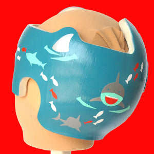 Sharks and Underwater Ocean Fish - Baby Boy Helmet Decals