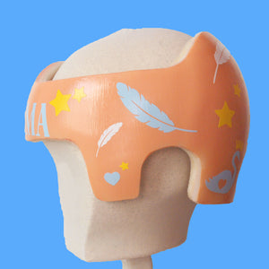 Swan Princess Star Feather Cranial Band Design for Baby Girl Helmet