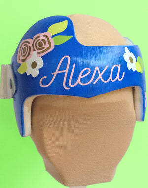 baby girl cranial band, baby girl plagiocephaly, babbleworthy, cranial band stickers, cranial band decals, floral baby helmet design, paint your baby helmet, paint your baby's cranial band, cranial band painting, cranial band bow, flowers cranial band, flowers doc band, flowers star band, girl doc band, girl star band