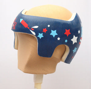 Cranial Band Starband Doc Band Baby Helmet Decals , Fourth of July Patriotic Red White and Blue Design for Plagiocephaly starband docband