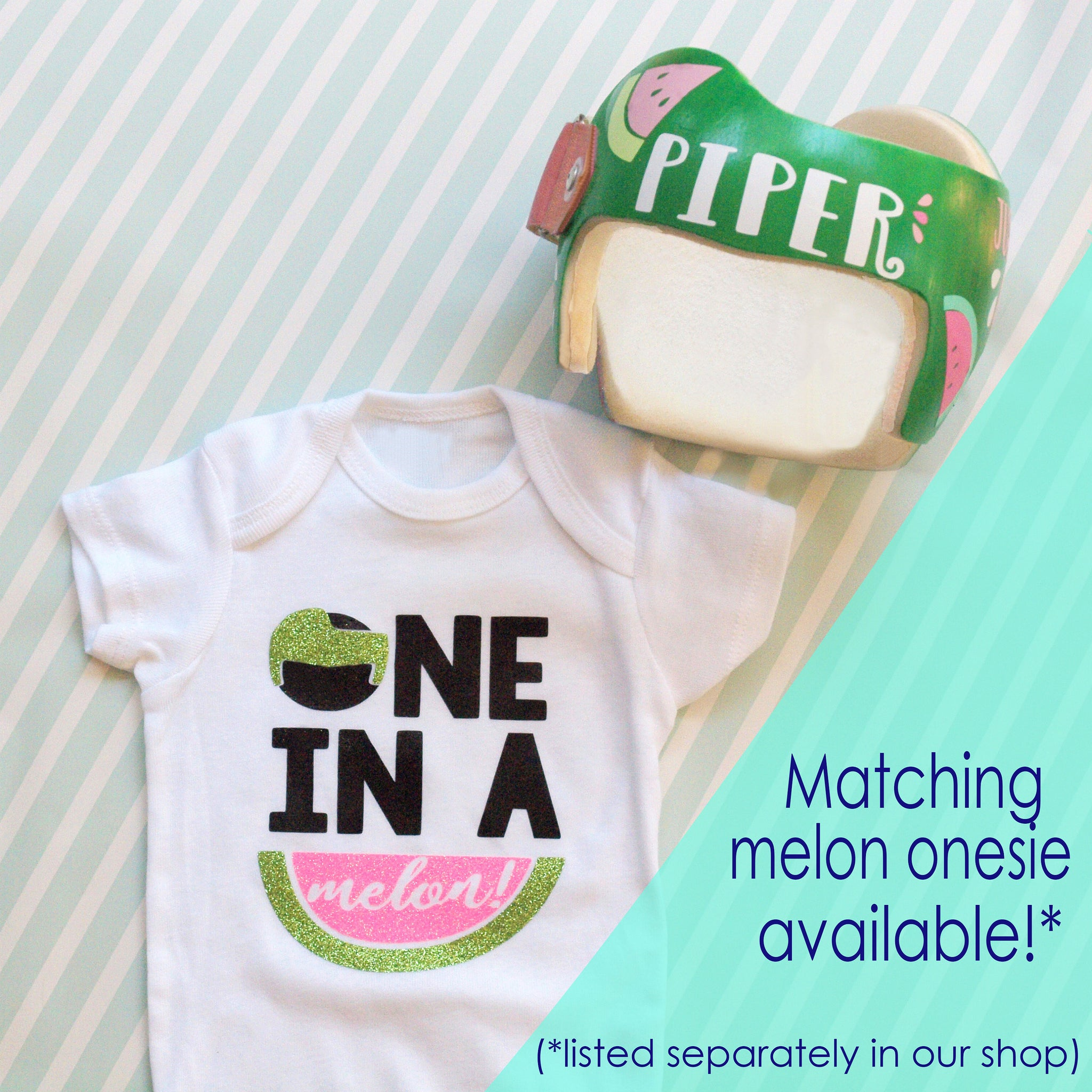 Just fixing my melon watermelon baby cranial band decals