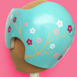girl cranial band designs, decorate girl cranial band, girl baby helmet, baby girl helmet decoration, babbleworthy decals, baby helmet paint kits, modpodge baby helmet, twin docbands, twin baby helmets, twin plagiocephaly, cherry blossom cranial band, flower cranial band, floral baby helmet