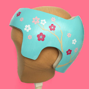 Girl Cranial Band Baby Helmet Decals, Spring Cherry Blossom Flowers Stickers