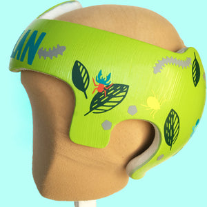 Cranial Band Decal Design for Boys, Bug Themed Baby Helmet Stickers