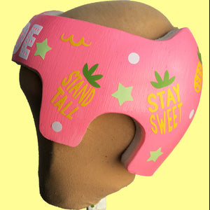 Baby Girl Helmet Decoration Stickers, Pineapple Themed Cranial Band Sticker Decals