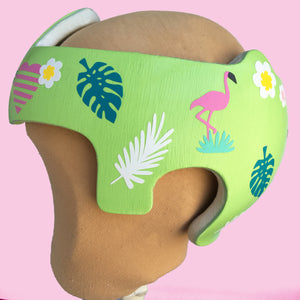 Baby Girl Helmet Decorative Cranial Band Decal Stickers, Tropical Themed Design