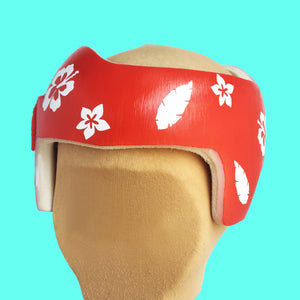 Cranial Band Baby Helmet Sticker Decals, Hawaiian Themed Plagio Starband Docband Design Decals