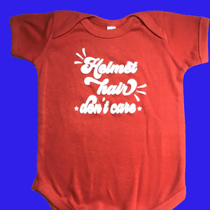 Red Starband Doc Band Baby Shirt, Cranial Band Bodysuit, Helmet Hair Don't Care
