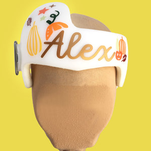 Cranial Band Decoration, Fall Pumpkin Themed Baby Helmet Stickers for Plagiocephaly or Cranio Helmets