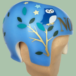 Baby Starband decals, owl cranial band design  sticker decals for plagiocephaly or cranio helmets
