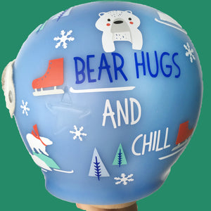winter baby helmet decals, babbleworthy, holiday doc band, christmas doc band, cranial band designs, cranial band wrap vs. cranial band decals, cranial band decoration, decorate baby helmet
