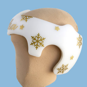 Snowflake Winter Holiday Baby Helmet Decals, Starband Doc Band Plagio Cranio Helmet Decoration