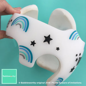 Cranial Band Decorations, Baby Boy Plagiocephaly Starband Doc Band Rainbow and Star Decals