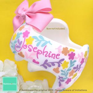 Multicolor Floral Baby Girl Helmet Decals (Bow Sold Separately)