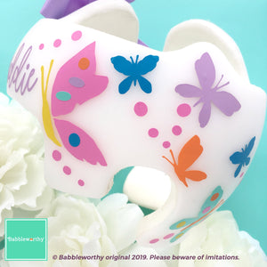Colorful Butterfly Cranial Band Decals (Helmet Bow sold separately)