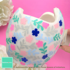 Multicolor Floral Spring Pattern Baby Helmet Decals Only (Bow Sold Separately)