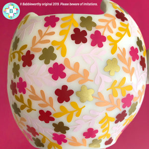 Multicolor Fall Floral Cranial Band Decals, Helmet Bow Not included