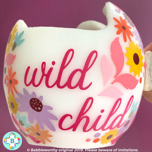 Fall Floral Cranial Band Decals for Star Band Doc Band, Wild Flower Child