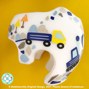 Under Construction Truck Cranial Band Decoration Decals