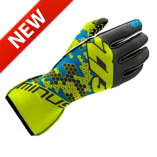-273 BUZZ Glove - FluoYell/GREY/CYAN Size Medium