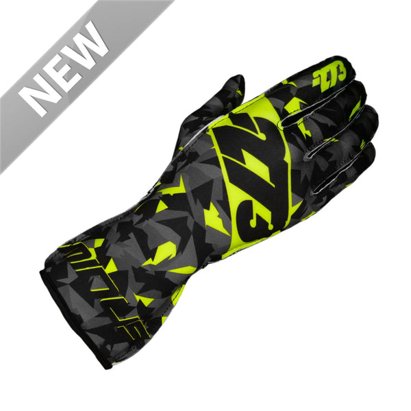 -273 Camo Glove Black/Fluo Yellow - L